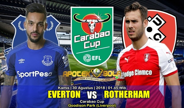 Prediksi Everton Vs Rotherham United 30 Agustus 2018