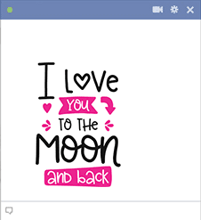 Love you to the moon sticker for Facebook