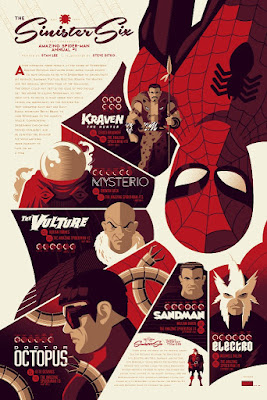"Spider-Man ""Sinister Six"" Marvel Regular Edition Screen Print by Tom Whalen x Mondo"
