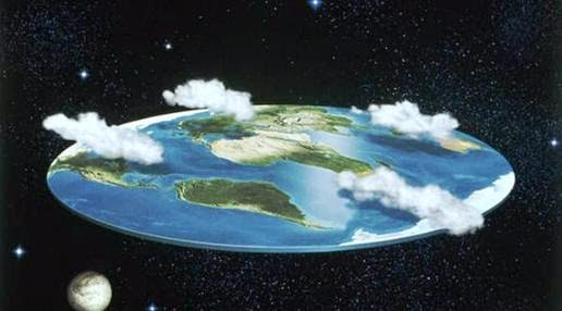 Illustration of Earth is flat