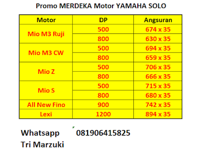 Promo MERDEKA Motor Yamaha Solo Edisi Agustusan