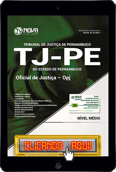 Apostila TJ PE 2017 PDF Download Oficial de Justiça