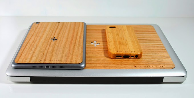 Accessorize your Apple products with wood cases