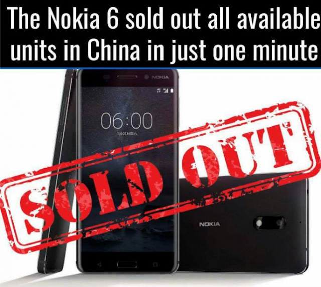 The New Nokia 6 Smartphone Sold Within Minutes