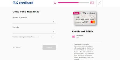 como solicitar cartão credicard zero