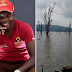 SO SAD .... JONH MAPOZI'S MOTHER GAZES AT LAKE NAKURU IN AGONY AS DIVERS ARE STILL LOOKING FOR HER SON'S BODY ....PHOTOS