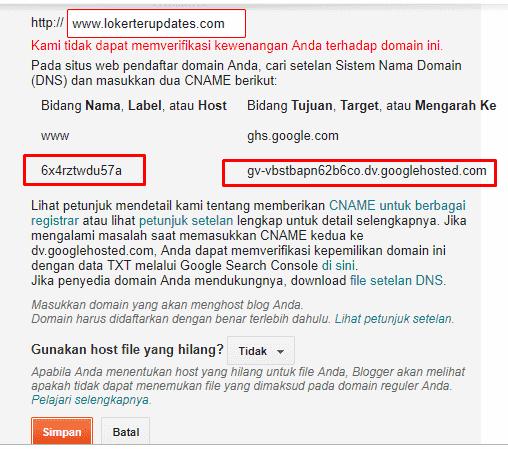 cara mengganti domain TLD di Blogspot