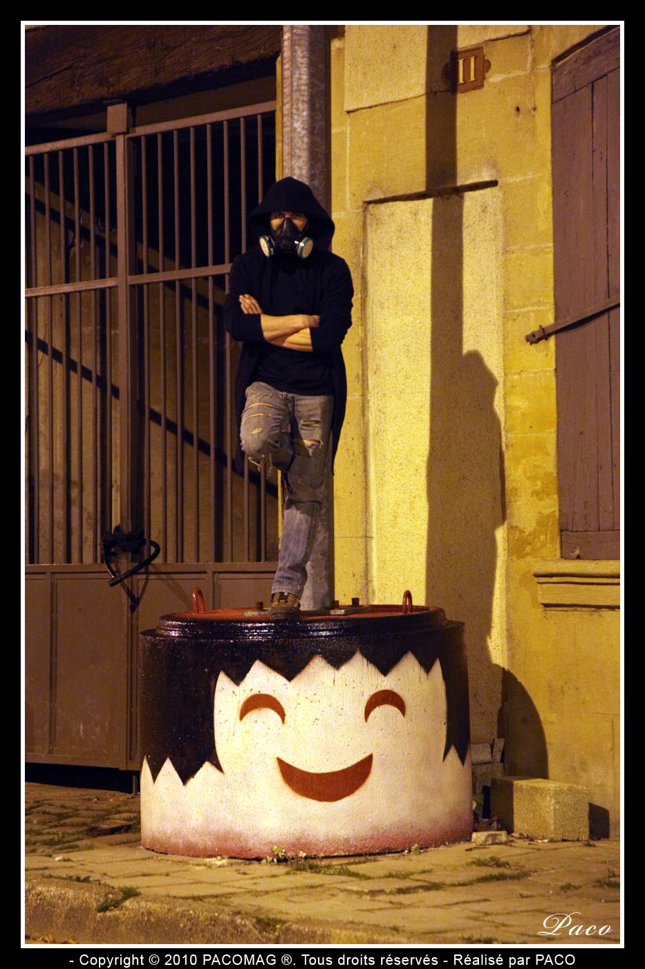 Street art playmobil de Paco illustrateur graphiste ville de Sedan