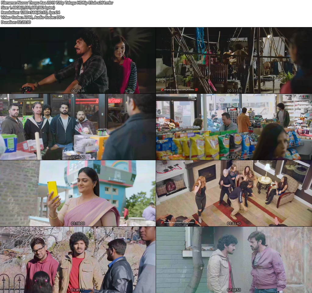 Nuvvu Thopu Raa 2019 720p Telugu HDRip ESub x264 | 480p 300MB | 100MB HEVC Screenshot