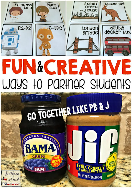 Here is a list of some fun and creative ways to partner students in your classroom and get them up and moving! They will love you for it!