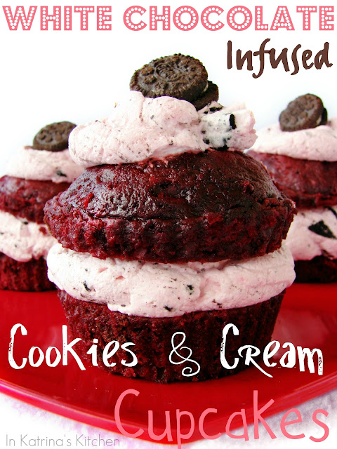 White Chocolate Infused Cookies and Cream Filling @KatrinasKitchen