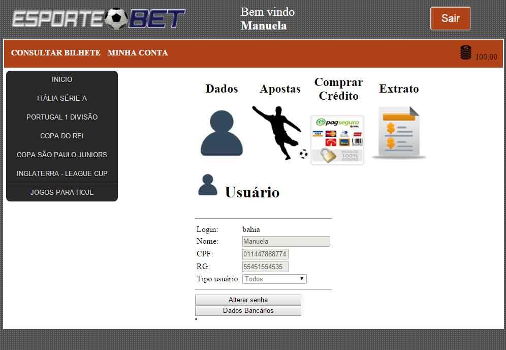 Apostas online esporte bet