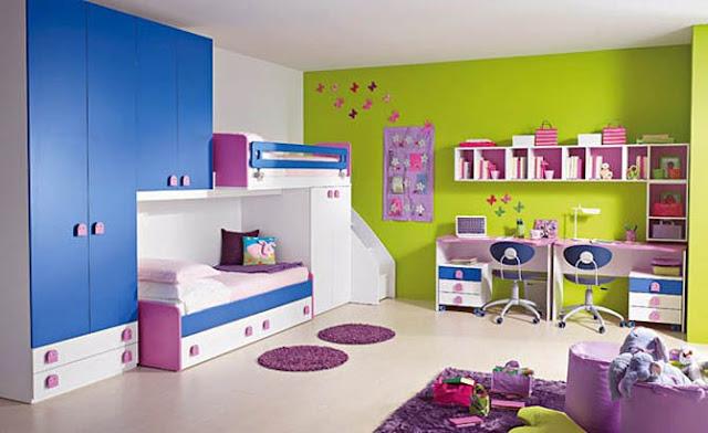 دهان غرف أطفال 2020 باللون اللموني