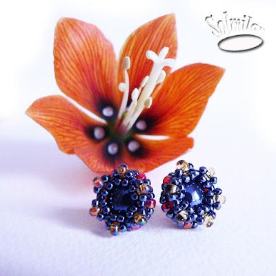 Biżuteria z koralików –  kolczyki sztyfty
