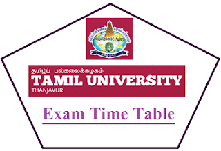 Tamil University Exam Time Table Nov Dec 2018