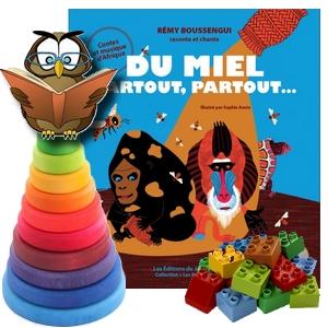 Rémy Boussengui du miel partout partout jardin des mots conte afrique singe abeille tortue gorille avis  critique chronique