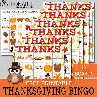 photograph regarding Thanksgiving Bingo Printable identified as My Modern day Patterns: Cost-free Printable Thanksgiving BINGO