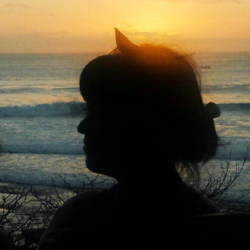 sunset cantik di bali