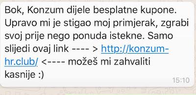 WhatsApp Konzum virus