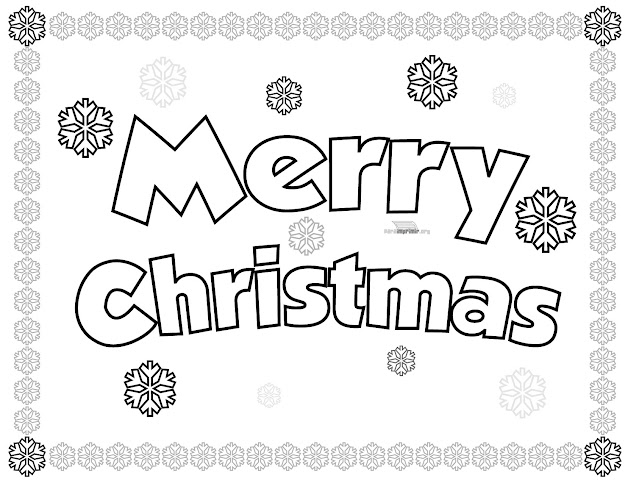 Coloring Pages Merry Christmas With