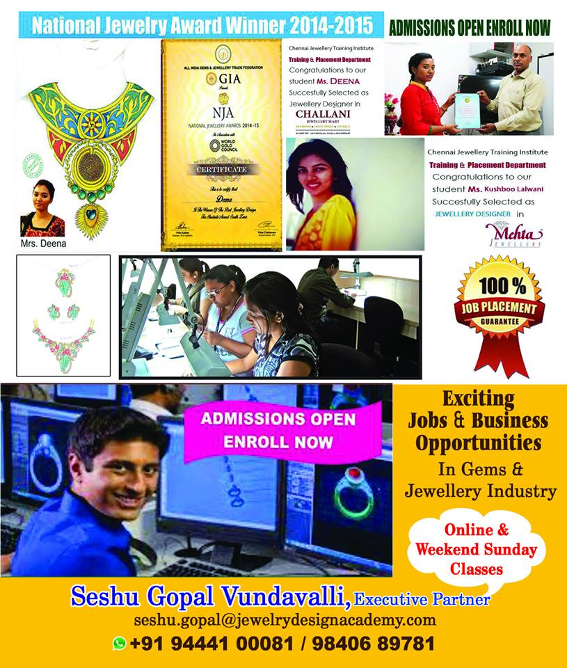 Professional Dlounge Chennai Jewellery Designer Courses Training Education Gjsci Green Jobs