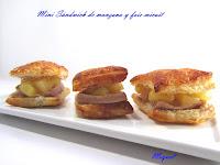 Mini Sándwich de manzana y foie micuit