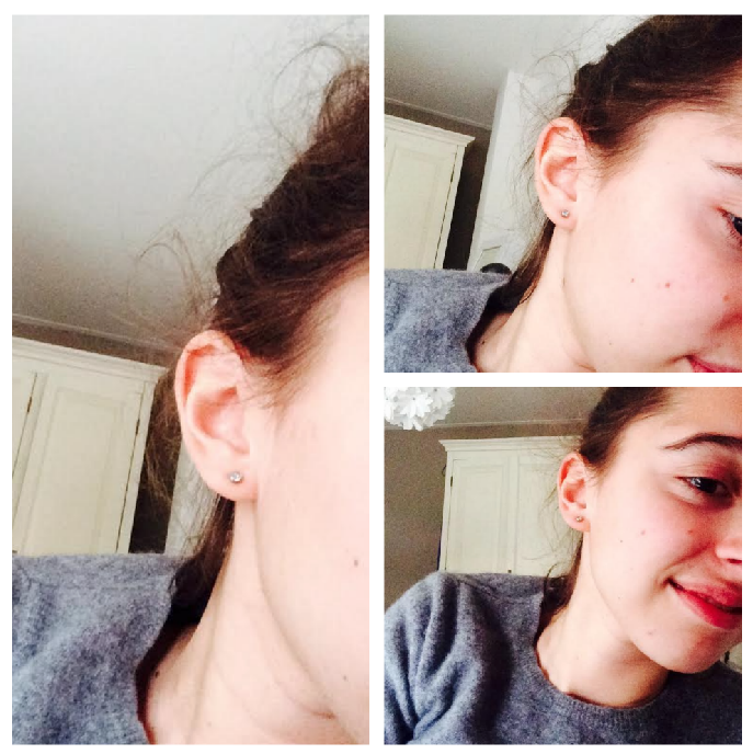 getting my ears pierced #earrings #piercing http://isafashionbella.blogspot.com