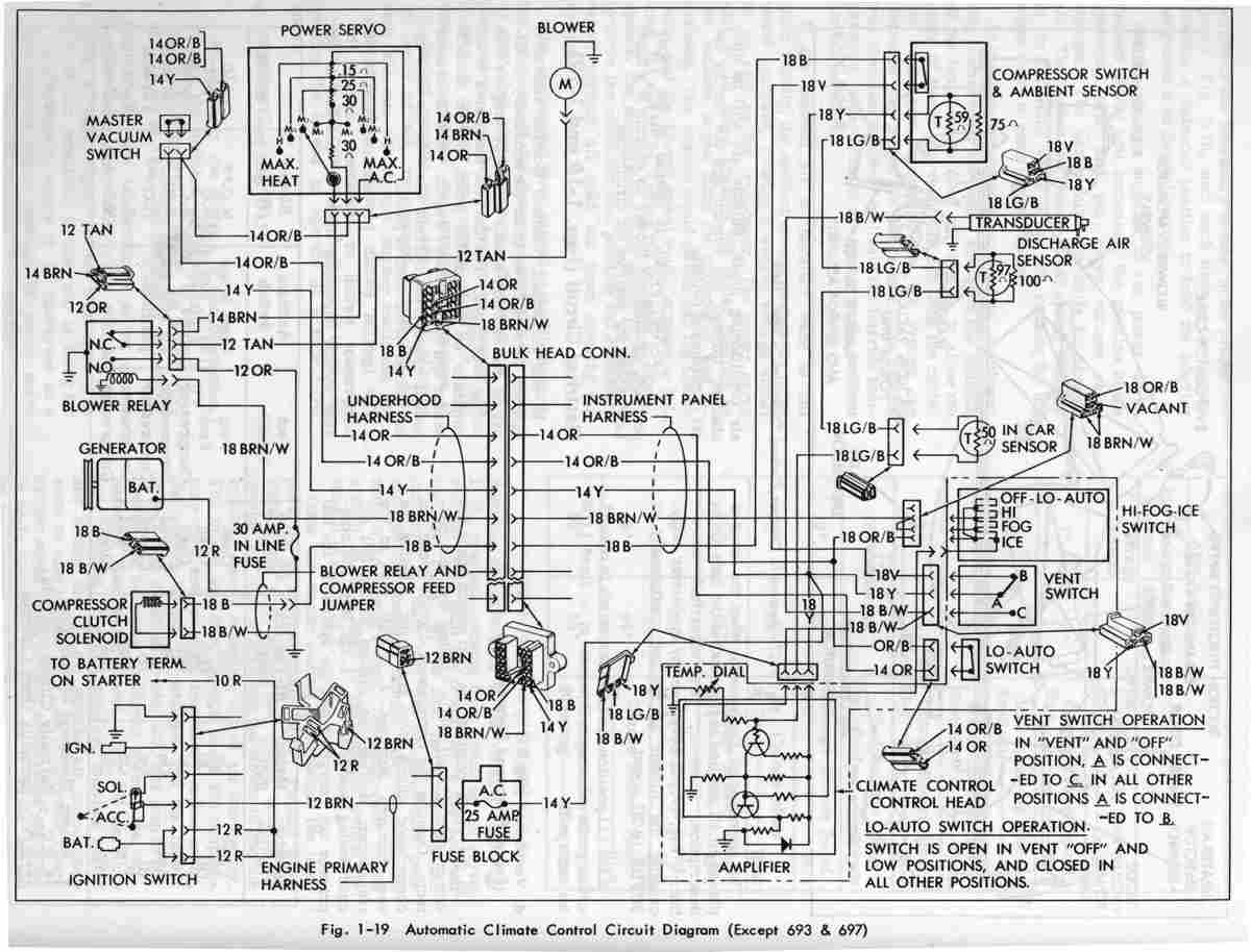 cadillac eldorado 1967 automatic circuit diagram