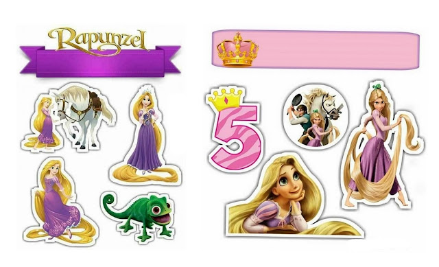 Rapunzel Free Printable Cake Toppers.