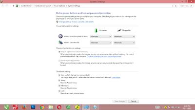 system setting window