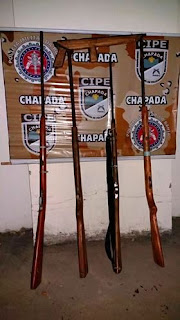 Cipe Chapada apreende cinco armas de fogo