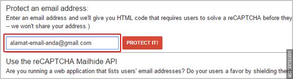 Cara Melindungi Alamat Email Anda dengan ReCAPTCHA