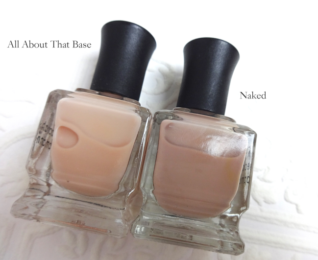 Deborah Lippmann All About That Base CC Base Coat vs Naked
