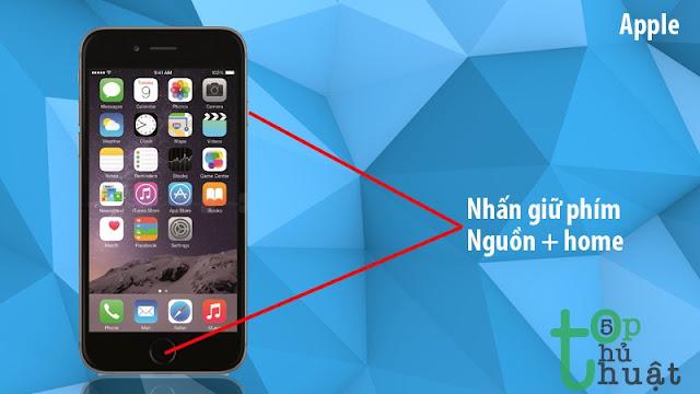 Chụp ảnh màn hình iPhone