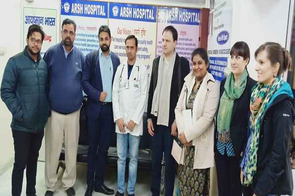 faridabad-arsh-hospital-jermany-team-visit-for-modi-ayushman-yojna