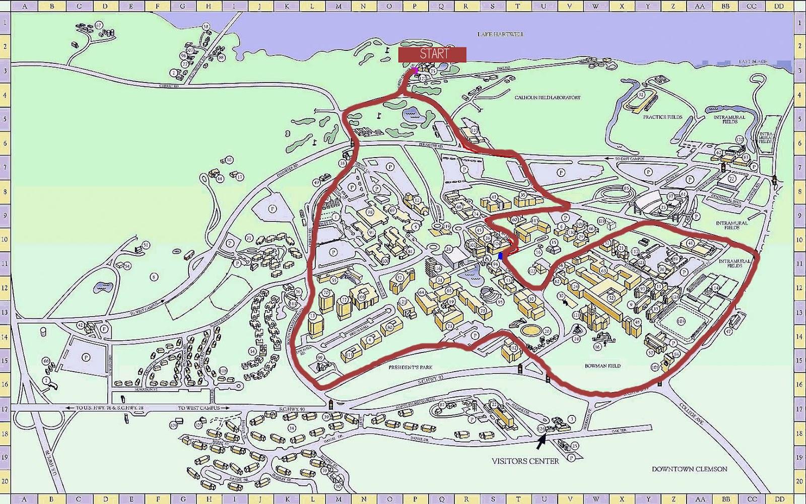 Best Clemson University Campus Map – yasminroohi on