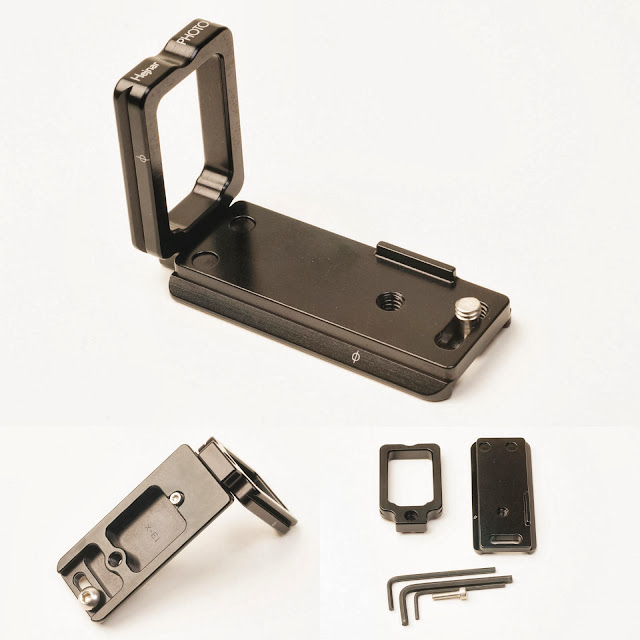 Hejnar Photo Modular L Bracket for Fuji X-E1 assembly