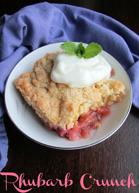 This is one of my husband's favorite desserts. A layer of rhubarb is covered in a sweet buttery crust for the perfect sweet tart treat.