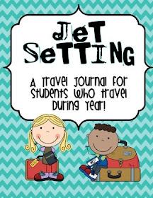 Jet Setting travel journal printable