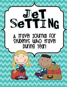 Jet Setting travel journal printable