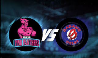 Jaipur Pink Panthers vs Dabang Delhi Pro Kabaddi Live