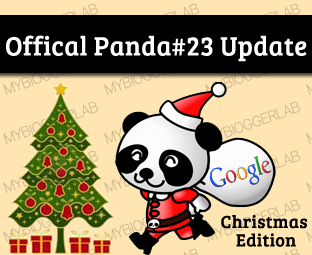 Google has finally accepted that in that place was a Panda Update Official Google Panda #23 Algorithm Update on Dec 21