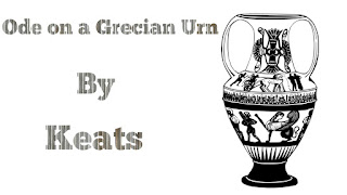 """""""Ode on a Grecian Urn"""" is one of the most celebrated romantic poems by the great romantic poet John Keats. The poem captures the poet's subjective approach to an ancient Grecian Urn and a traditional physical object like the urn he has been used as metaphor to signify abstract ideas such as truth and eternity. In the poem, Keats explores the and a permanence of the art as typified by the urn and establishes it's connection with transient life. It also graphically furnishes the contrast between the ideal and the real.     The poem opens with a description of the urn as a bride, a foster child, a historian. All these personifications subtly indicate the permanence of the urn over time. The poet describes the pastoral scenes engraved on the surface of the urn and establishes its supremacy by saying that  """"Heard melodies are sweet, but those unheard/ Are sweeter;........"""". The world depicted in the urn's surface is an ideal one. It's pre-eminence is established through its immutability-- """"Fair youth, beneth the trees be bare"""". In the ideal world of the urn, it is eternal spring. 'The weariness, the fever, and the fret' can never touch the figures on the urn. They are forever happy as they are not subject to sufferings and pains, decay and death-- """"Ah, Happy, happy boughs! that cannot shed/ Your leaves , not ever bid the Spring adiue; / All breathing human passion far above, / That leaves a heart high sorrowful and cloyed, / A burning forehead, and a parching tongue."""" The urn is immune from the negative aspects of time. It will continue to exist to teach human beings great lessons. In the concluding stanza, the poet completes the connection between the abstract and the concrete. """"Beauty is truth, truth beauty"""" sums up the relationships described through the poem.    The language in the poem is magnificent. The tone is quite interesting, as Keats seems truly awed and astonished by the urn he reflects over. His diction is rather elevated. The poem is written in pentameter,"""