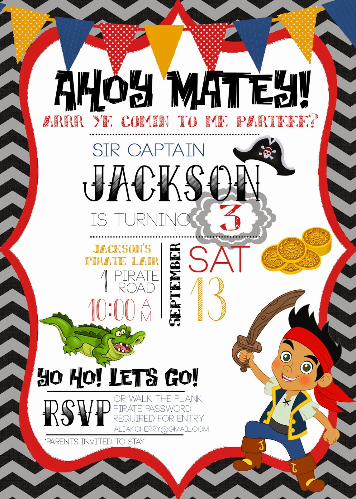 Pirate Party Invites was best invitation layout
