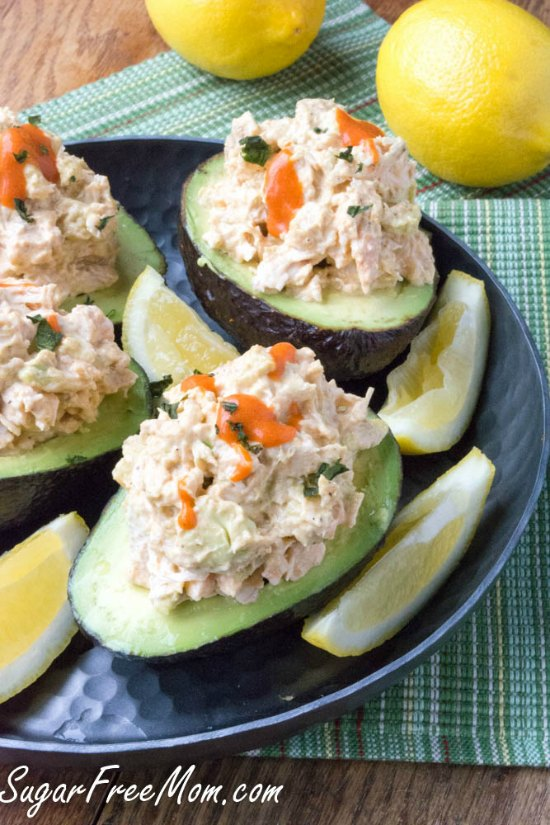 15 Amazing Low-Carb Salads with Avocado featured for Low-Carb Recipe Love at KalynsKitchen.com