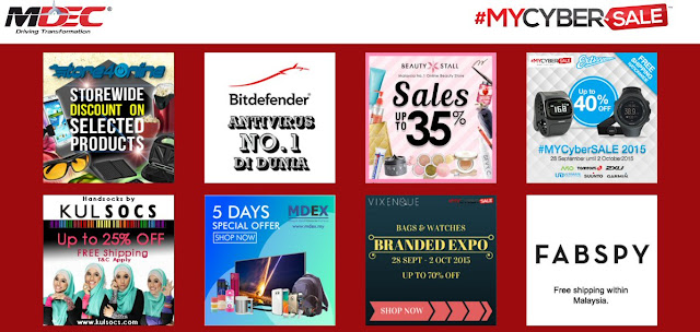 Some of the offer by merchants during #MYCYBERSALE 2015