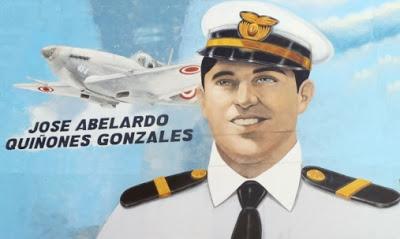 Dibujo de José Abelardo Quiñones Gonzales a colores para niños