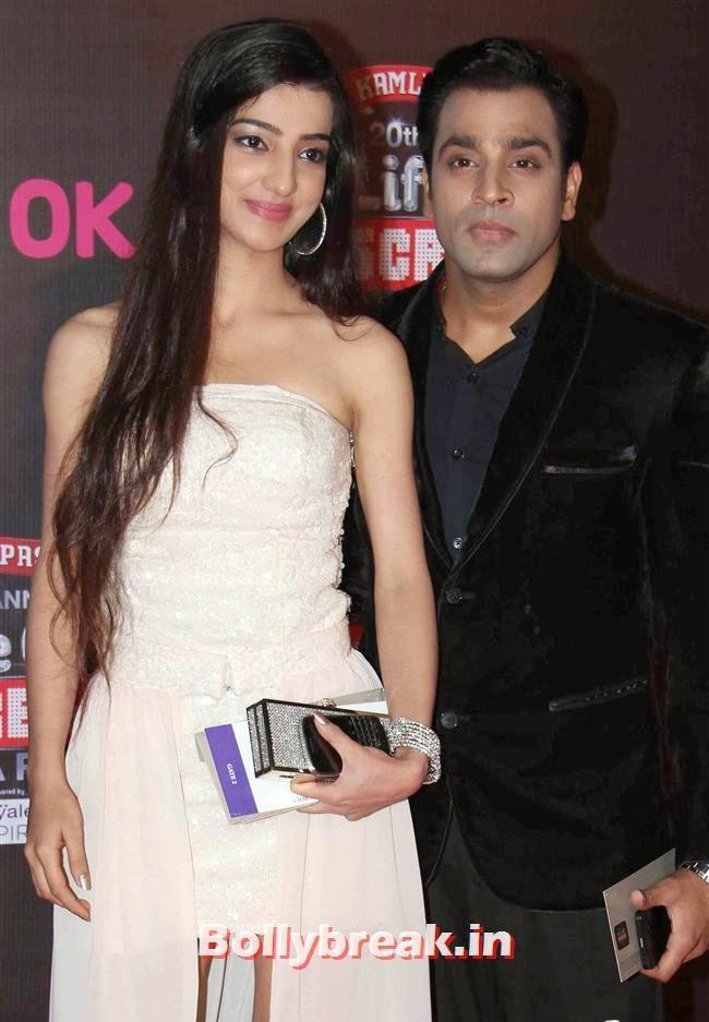 Abhishek Awasthi with Lovey Sasan, Bollywood Wags at Screen Awards 2014
