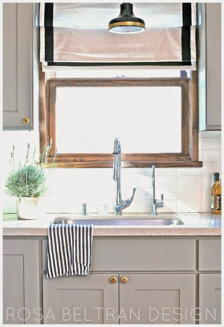 Once I D Settled On Painting My Kitchen Cabinets A Medium Grey With Br Hardware Knew The Existing Light Green Gl Backsplash Would Have To Change As