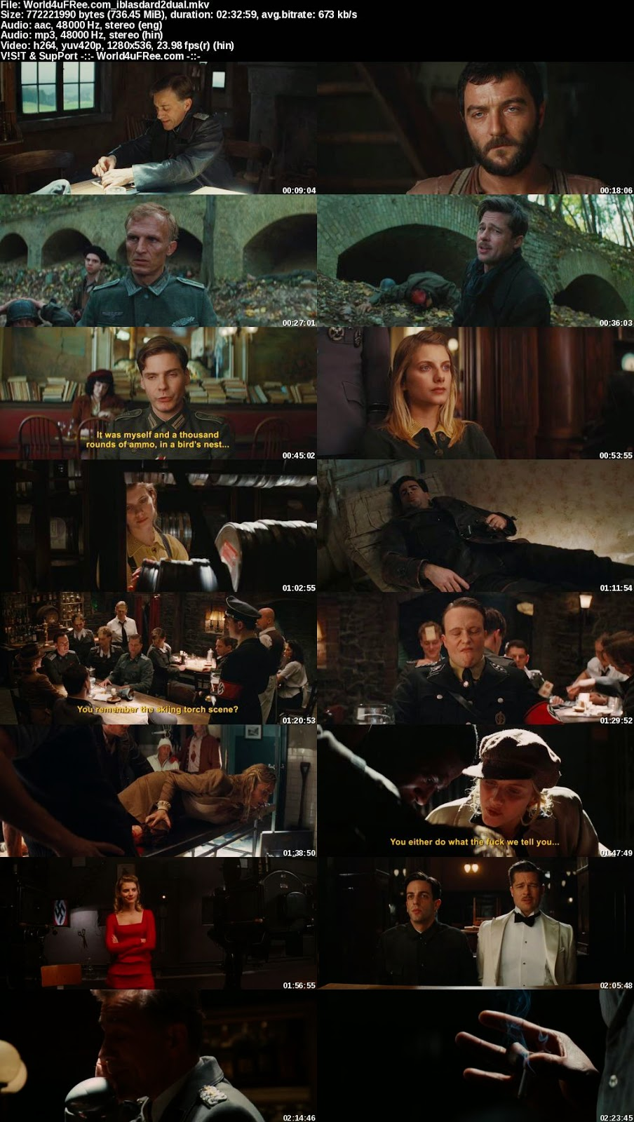 Inglourious Basterds 2009 Dual Audio Hindi English 720p ...